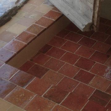 Antique reclaimed quarry tiles