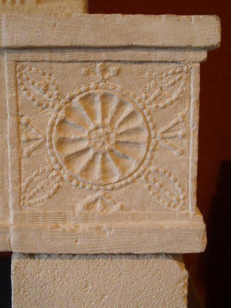 Trumeau de cheminée ancienne en pierre
