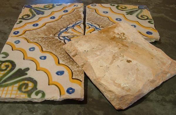 Carrelage ciment ancien émaillé