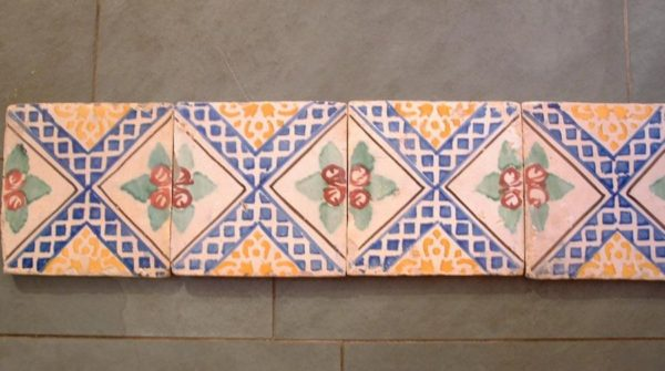 antique Italian glazed tiles