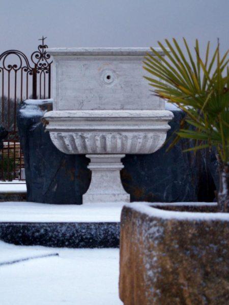 fontaine vasque pierre calcaire