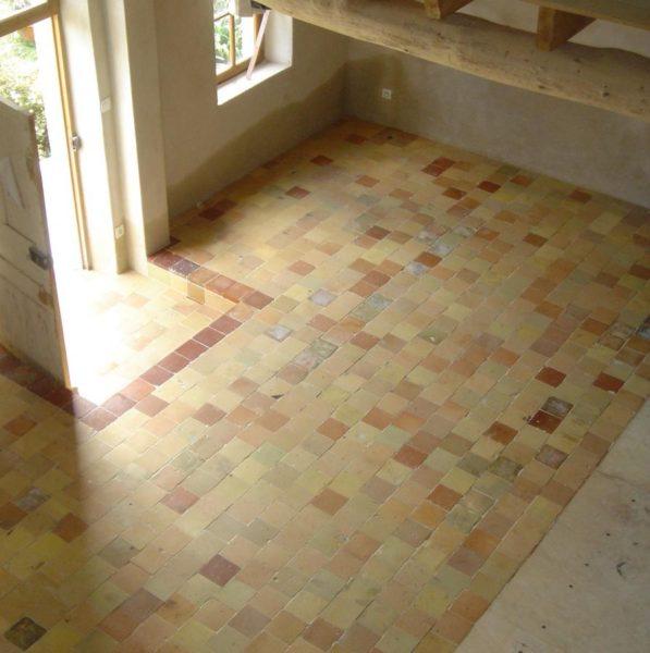 carreaux terre cuite, vieille tomette ancienne