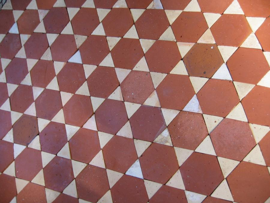 Antique Terracotta Hexagon Amp Diamonds Tiles