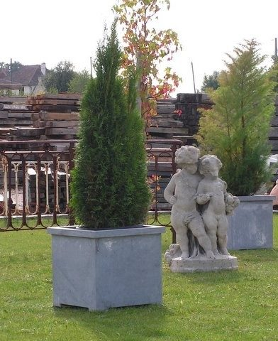 statue ancienne cherubins pierre calcaire