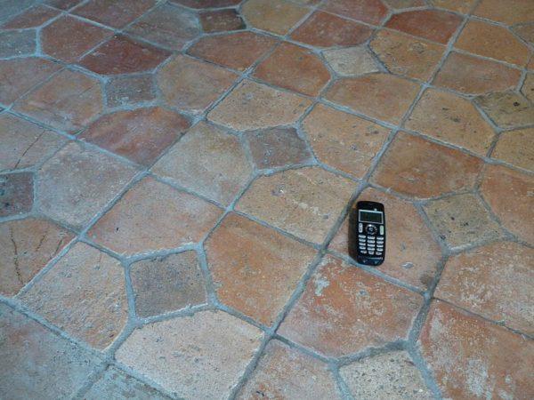 Antique french terracotta floors