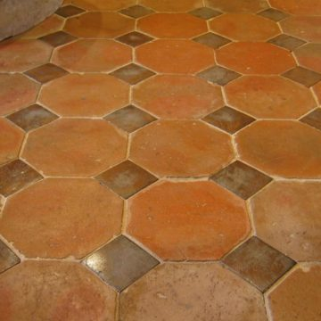 Antique reclaimed terracotta in octagonal format