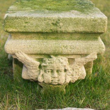 console pierre calcaire scuptee