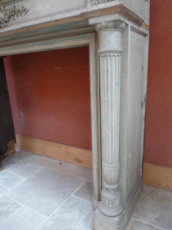 Antique French Louis Xvi Fireplace