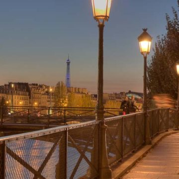 Antique paris street lamps