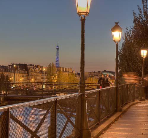 Antique paris street lamps