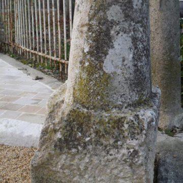 Chasse-roue en pierre