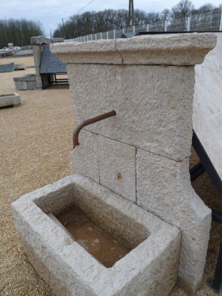 fontaine pierre calcaire bac dosseret