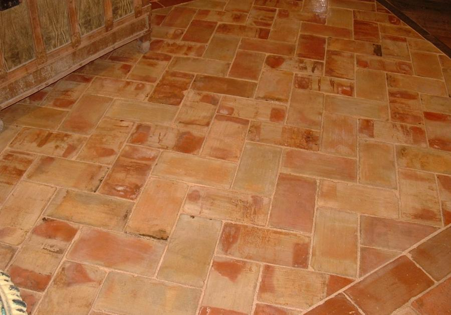 Reclaimed Rectangular Terracotta Antique Parefeuille From France