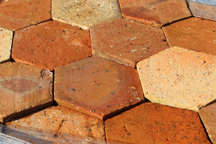 antique hexagon terracotta tiles. Black Bedroom Furniture Sets. Home Design Ideas