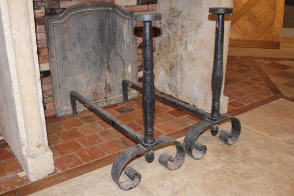 Chenet de cheminée ancienne