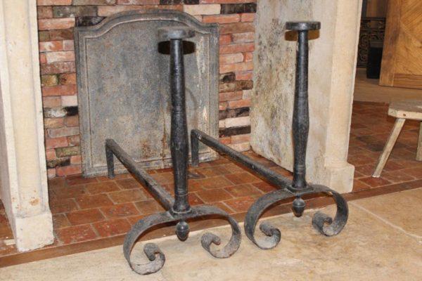 Chenet ancien de cheminée ancienne