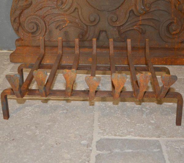 Porte buche cheminée ancienne