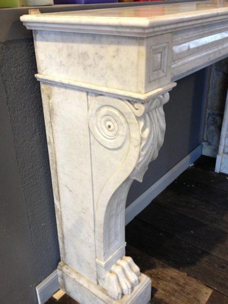 cheminée en marbre blanc style napoléon
