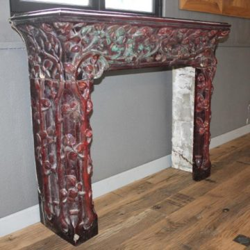 "Art Nouveau ceramic chimney piece ""Emile Muller"""