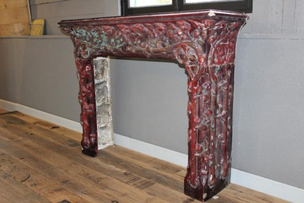 "Art Nouveau ceramic chimney piece ""Emile Muller"""