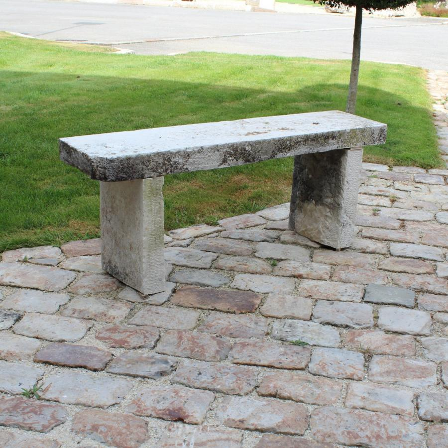 Stone garden bench Stone garden bench