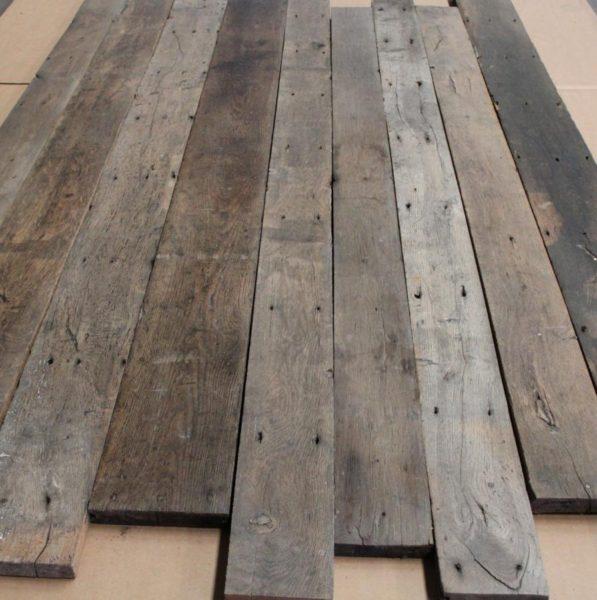 plancher en chêne ancien