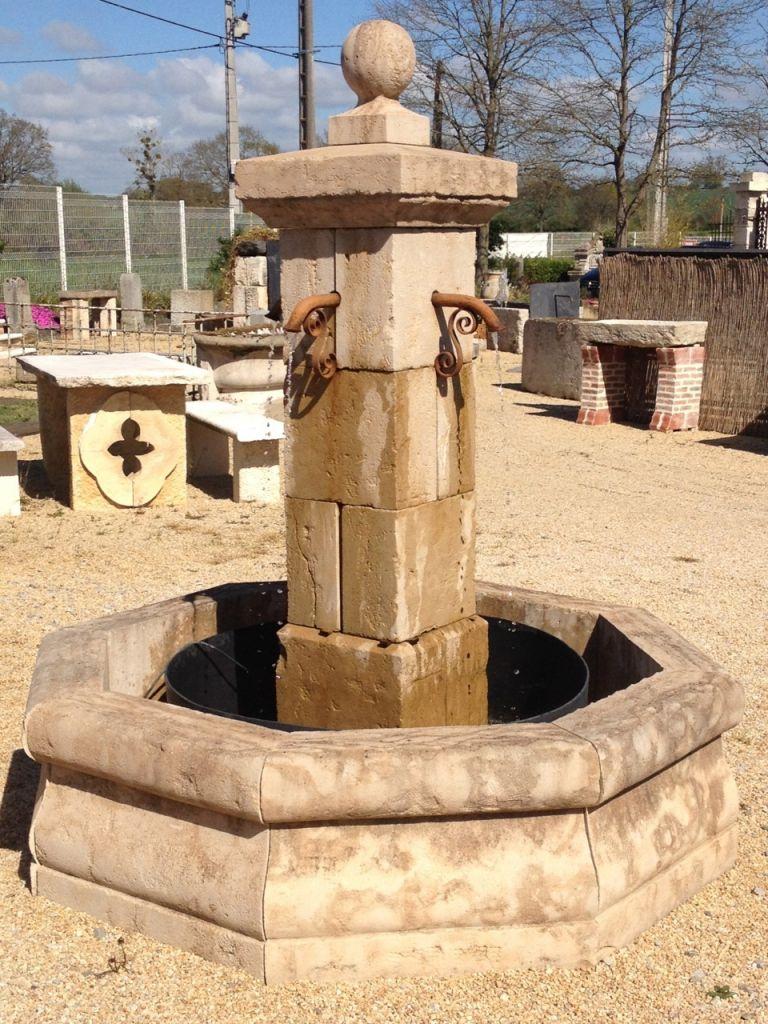 Classic Limestone Fountain