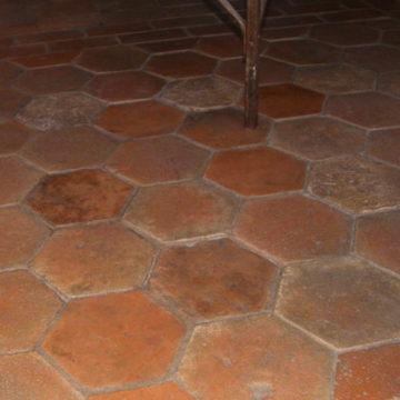 06666gm Antique French Terracotta Hexagon Flooring