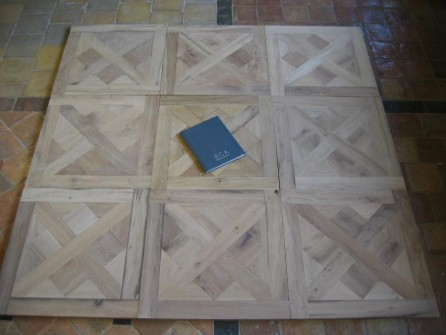 Antique Oak Panel Floors Small Format Panelled Floor In
