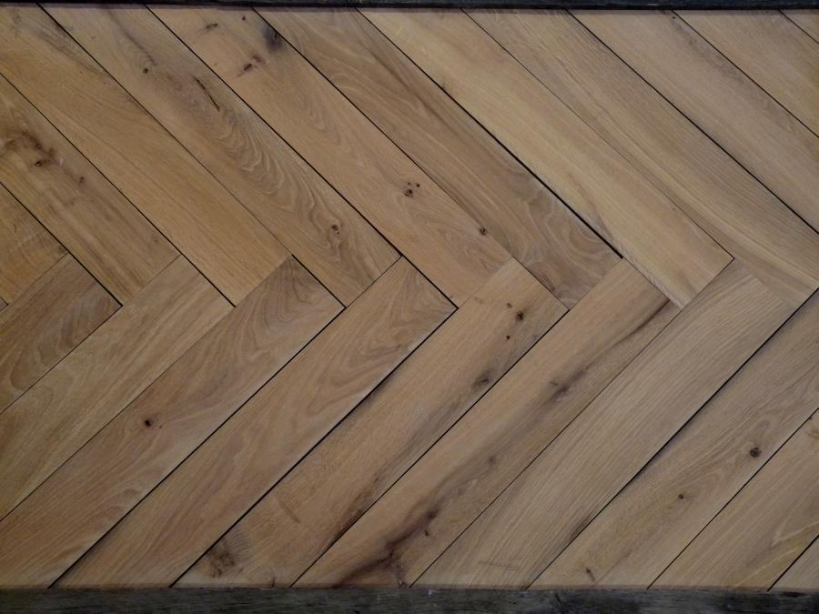 Reclaimed Antique French Oak Herringbone Parquet
