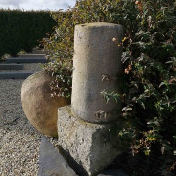 antique french limestone bollards just 1 unit available