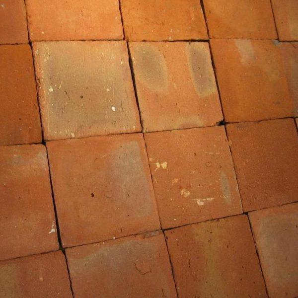 antique reclaimed terractotta tiles 25x25 cm