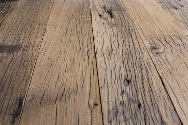 French railway oak rustic planed boards