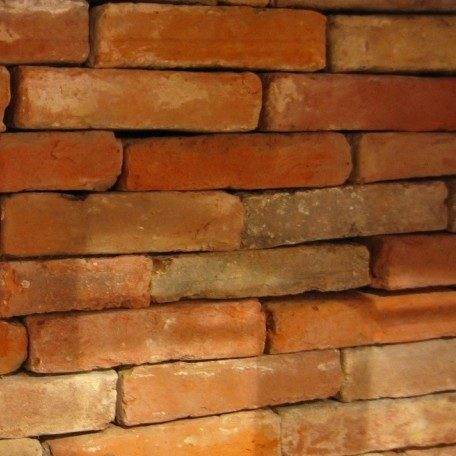 antique bricks in pinky orange