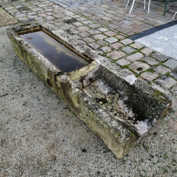 antique french reclaimed troughs in sandstone