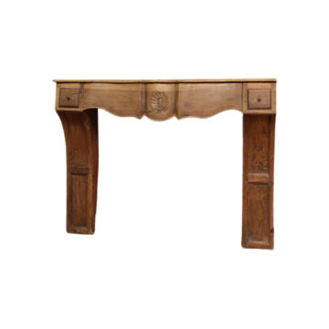 Antique french walnut mantel