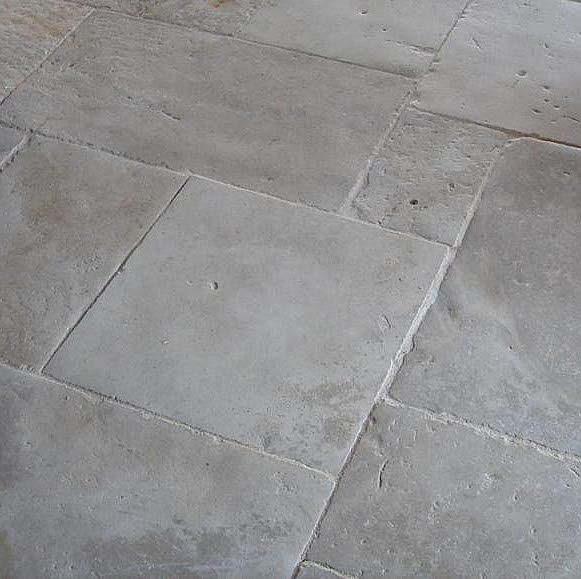 Antique limestone flagstones