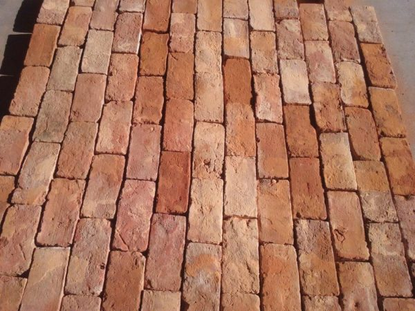 antique red bricks