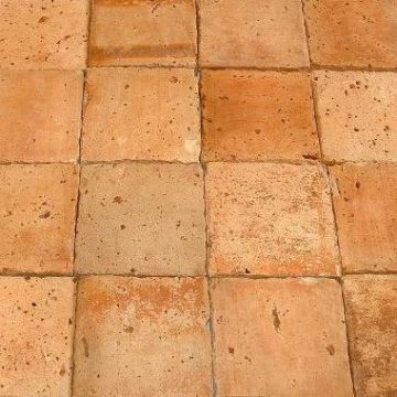 antique terra cotta tile in light tones