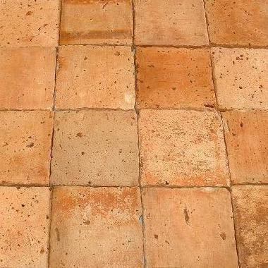antique terra cotta tile in light tones