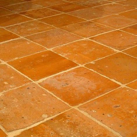 antique terra cotta tiles in 22 x22 cm