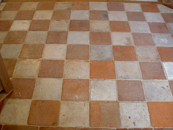 antique terracotta tiles from france
