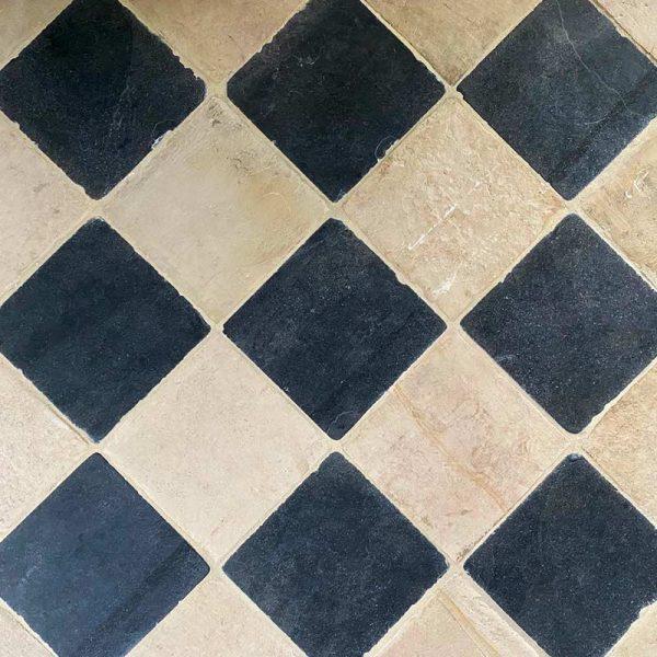 Chess board flooring