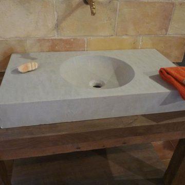 grey washbasin or sinks