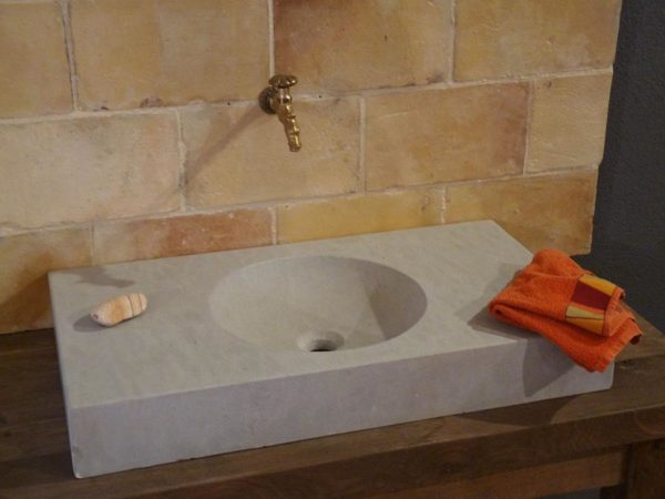 limestone washbasin or sink