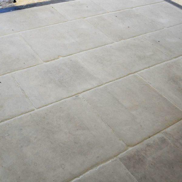 Natural limestone cool grey bar in interior