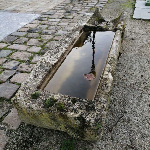 new antique trough in limestone and sandstone