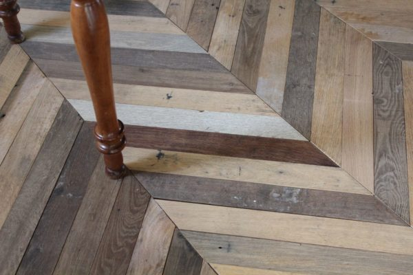 reclaimed french parquet chevron old style