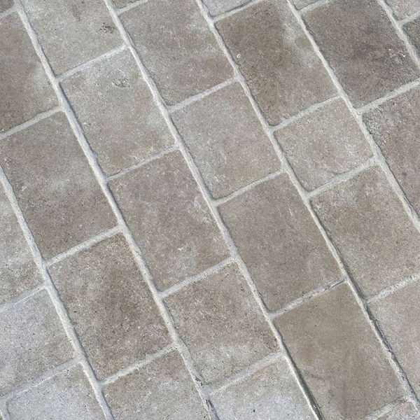 repliced antiqued pavers