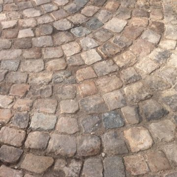 small format of french antique cobbles